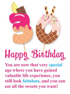 Send Free Irresistible Sweets - Happy Birthday Card to Loved Ones on Birthday & Greeting Cards by Davia. It's free, and you also can use your own customized birthday calendar and birthday reminders. Birthday Msgs, 30th Birthday Cards, Happy Birthday Baby, Birthday Calendar, Birthday Treats, Birthday Greeting Cards, Birthday Greetings, Birthday Gifts, Birthday Reminder