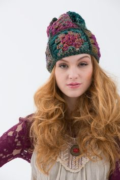 The Hippie Hat Free Pattern on Lion Brand's site