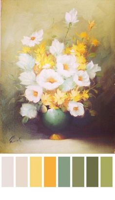 Thrift store painting palette by Wise Craft Handmade- I like this color palette