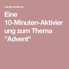 """Eine 10-Minuten-Aktivierung zum Thema """"Advent"""""""