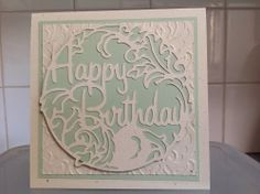 In love with Venetian Romance designer Paper, Cricut, Stampin Up, birthday card Kerry Crocker