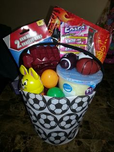 My boys easter basket im the best girlfriend ever yummy boys easter basket negle Image collections