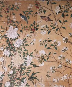 Chinese wallpaper in dressing room of Nostell Priory