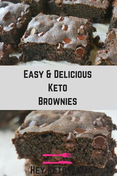 These Keto Brownies are decadent and delicious, fudgey and firm, everything a brownie should be! But thing these low carb brownies are is guilt free! You won't want to share them...and you won't have to! | heyketomama.com
