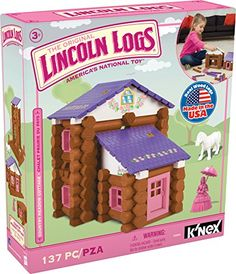 $13.18 - LINCOLN LOGS - Country Meadow Cottage - 137 Pieces - Ages 3 Preschool Education Toy