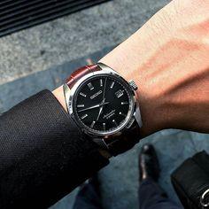 #Regram of @shotsonmywrist. Crystal clear shot of the #Seiko SARB033 on gator grain. #womw #watchonmywrist #watchcollecting #watches #wristshot #instawatch #wis #madeinjapan #wruw #affordablewatches #watchfam