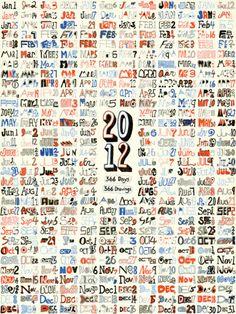 Fresh From The Dairy: 2012 Calendars | Design Milk