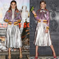 Matilda Lutz in Gucci at the L`Estate Addosso(Summertime) Milan Photocall