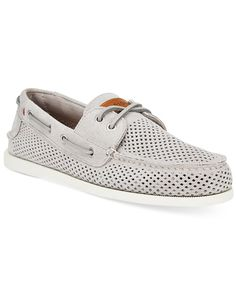 Experience a more luxurious class of boat shoe with these perforated suede…