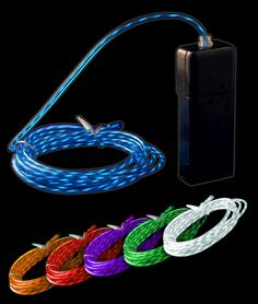 Multicolored pack of motion El Wire!