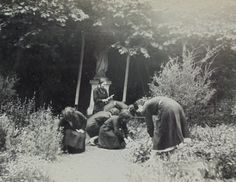 1930's French Photo  Six Young Women Gardening by ChicEtChoc