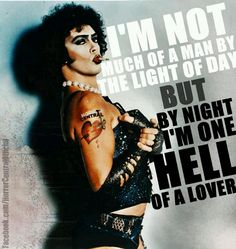 Rocky Horror Picture Show. One of my favorite movies, EVER Rocky Horror Show, The Rocky Horror Picture Show, Famous Movie Quotes, Cult Movies, Iconic Movies, Time Warp, Great Movies, Movies And Tv Shows, Movie Tv