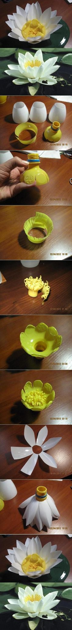 DIY Plastic Bottle Lily Flower DIY Projects /