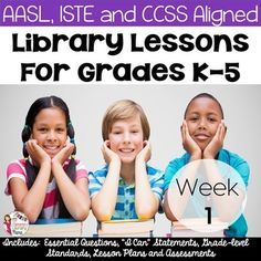 FREE Library Lessons for the First Week of School! know that it is impossible to design lesson plans that will fit everyones needs. As media specialists/librarians/library teachers, etc. we all have different schedules and student populations. Library Plan, Library Lesson Plans, Free Library, Library Ideas, School Library Lessons, Elementary School Library, Library Skills, Elementary Education, Physical Education