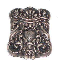 Antique Sterling Match Safe  www.midcenturyjewelry.com
