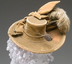 Lady's Hat with Hat Pin  circa 1770