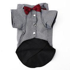 camisa bowtie inteligentes de estilo para cães (xs-xl) – BRL R$ 25,90