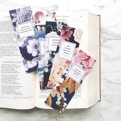 Set of Six Bookmarks We paired bold florals with the sublime, provocative language of the British Romantic Era poets - Blake, Byron, Shelley, Keats, Coleridge and Wordsworth. Each is printed on beautiful matte paper and make great gifts for writers, English majors, teachers and anyone who loves books. SIZE: 2 X 6 inches PAPER: heavy, premium matte paper