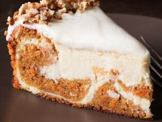 Carrot Cake Cheesecake, good concept idea for making into gluten free