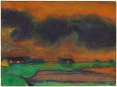 Marsh Landscape, ca. 1930-1935  Emil Nolde watercolor