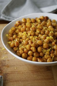 Lemon Zest Roasted Chickpeas | In Pursuit of More