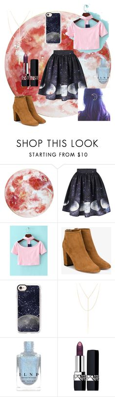 """To the moon and back"" by people-are-annoying ❤ liked on Polyvore featuring WithChic, Aquazzura, Casetify, South Moon Under and Christian Dior"