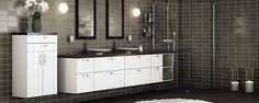 Illustrasjonsfoto Living Room Kitchen, Living Room Bedroom, Double Vanity, Bathroom, Home, Bath Room, Ad Home, Bathrooms, Homes