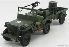 AUTOART 74016 1/18 JEEP WILLYS MB USA ARMY 1941 - WITH TRAILER
