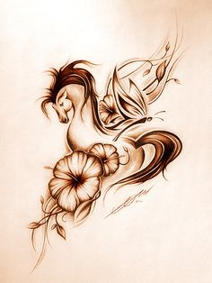 Like the style of this to finish up my shoulder...I'd stick to less mainstream florals and probably nix the butterfly for myself.