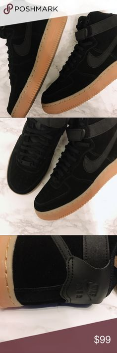 super popular bdd52 d4681 NIKE - Air Force 1 High Top SE Brand new with box. Price is firm! Nike High  Top Air Force for a retro look! Black suede with rubber gum sole trainers.