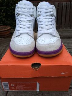 best website ccb92 6d3dd 2005 Nike Dunk High Deluxe MITA OSTRICH WHITE HYACINTH PURPLE GUM  312032-111 10 White