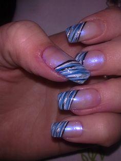 interesting blue by elma_2 - Nail Art Gallery nailartgallery.nailsmag.com by Nails Magazine www.nailsmag.com #nailart
