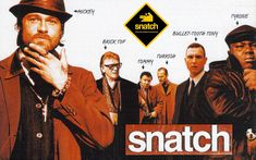 Snatch wallpaper with Brad Pitt, Jason Statham, Vinnie Jones, Alan Ford, Stephen Graham & Ade See Movie, Movie Tv, Brad Pitt, Movies Showing, Movies And Tv Shows, Guy Ritchie Movies, Snatched Movie, Alan Ford, Gangster Films
