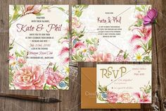 Watercolor DIY floral graphics set by Digital art shop on @creativemarket