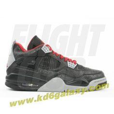 Air Jordan 4 retro rare air laser black varsity red medium grey Kd 6 Shoes feddace99