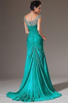 Sexy elegant Mermaid Chiffon Bridal Prom Dress Formal Wedding Evening party Gown