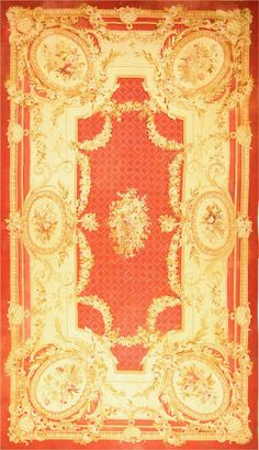 Antique Aubusson Rugs #2045  http://nazmiyalantiquerugs.com/antique-rugs/aubusson/