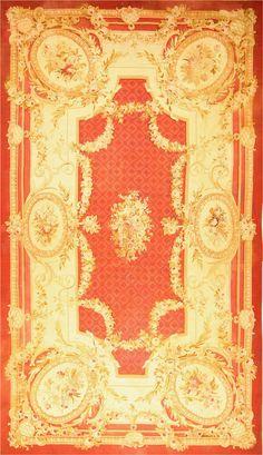 Antique Aubusson Rugs #2045  http://nazmiyalantiquerugs.com/antique-rugs/aubusson/