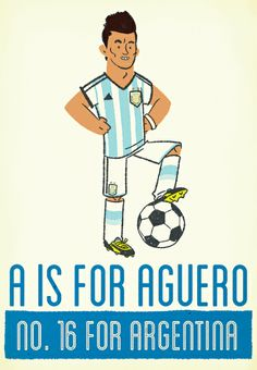 A is for Sergio Aguero #football #worldcup2014 #argentina #sergioaguero