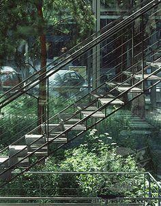 Fondation Cartier stairs Paris