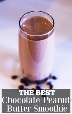 The most delicious and veggie packed Chocolate Peanut Butter Smoothie! Healthy Eating Recipes, Healthy Breakfast Recipes, Clean Eating Snacks, Healthy Treats, Yummy Treats, Healthy Life, Healthy Food, Sweet Treats, Chocolate Peanut Butter Smoothie
