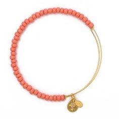 Alex & Ani Sea Bead Expandable Wire Bangle Single - Yellow Gold - Single Embellished Bangles - Bracelets