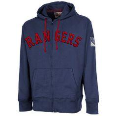 '47 Brand New York Rangers Game Time Scrimmage Full Zip Hoodie - Royal Blue