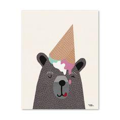 Michelle Carlslund Australia -  Michelle Carlslund I Love Icecream Poster - 50x70cm - Growing Footprints - 1