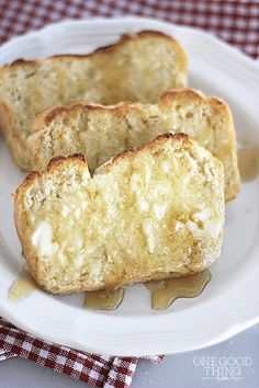 My Mom's Amazing English Muffin Toasting Bread! - One Good Thing by Jillee