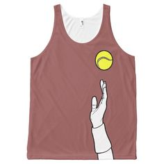 Marsala - Cool Tennis Serve All-Over Print Tank Top Tank Tops