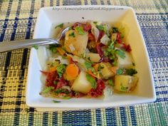Quick Corned Beef, Cabbage and Potato Soup
