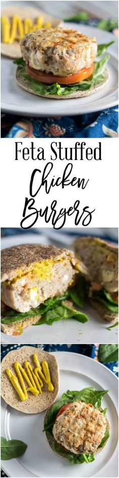 Having a burger craving doesn't mean you have to blow your diet. These feta stuffed chicken burgers are perfect for the summer and so easy to make. They are also healthy, which means you can eat them without any guilt! They are only 6 SmartPoints per serving on Weight Watchers.
