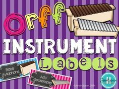 Label your Orff instruments to make them cute and easy to distinguish for your students! This set contains 23 instrument labels for your Orff instruments. The following labels are included: 2 soprano xylophones2 alto xylophones1 bass xylophone 5 bass bars2 soprano metallophones 2 alto metallophones4 soprano glockenspiels (2 sizes)4 alto glockenspiels (2 sizes)Sew Much Music has a Facebook Page!