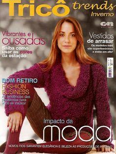 :: REVISTAS TRICÔ - DESCARGA GRATUITA :: Fashion Business, Crochet Magazine, Knitwear, Knitting Patterns, Album, Magazines, Crochet Sweaters, Magazine Covers, Diy